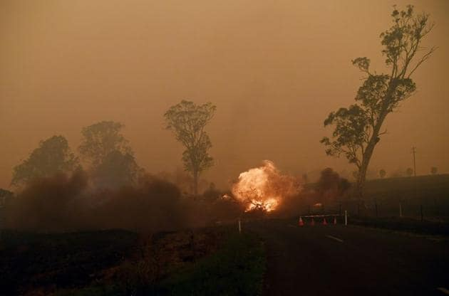New South Wales Premier Gladys Berejiklian mentioned that there were more than 130 fires burning in the state, with just over 50 not yet under control.(REUTERS)