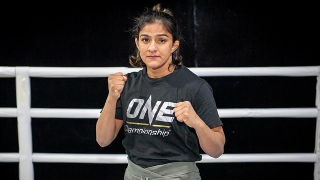 India's Ritu Phogat poses at the Fighting Bros Club ahead of her One Championship: Age of Dragons mixed martial arts debut.(via REUTERS)
