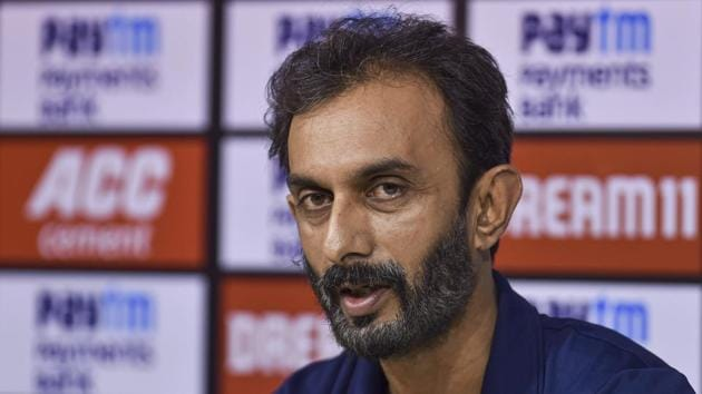 Chennai: Indian team batting coach Vikram Rathour speaks during a press conference ahead of their first one day international cricket match against West Indies at MAC Stadium in Chennai, Saturday, Dec. 14, 2019.(PTI)