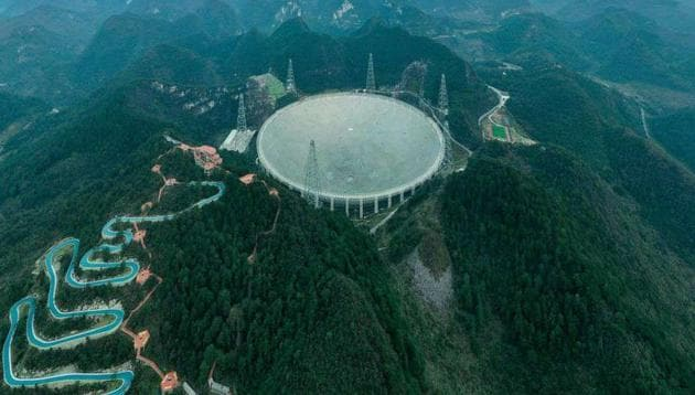The telescope has a receiving area of around 30 football fields.(HT photo)