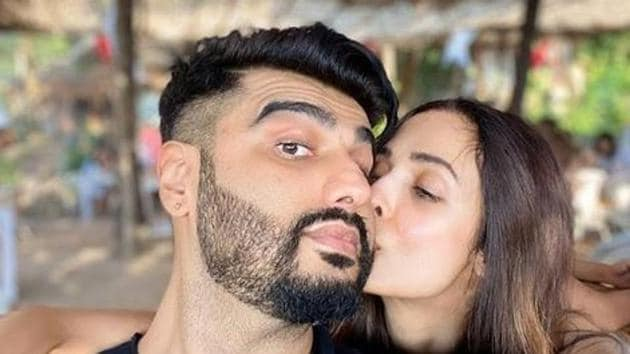 Arjun Kapoor and Malaika Arora pose together for an Instagram picture.