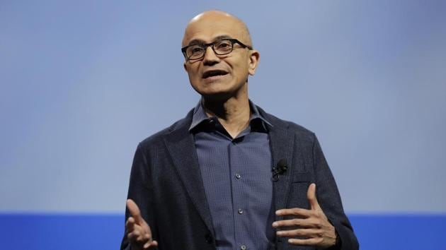 At an event in Manhattan on Monday , Microsoft CEO Satya Nadella spoke about India's amended citizenship law under which non-Muslim refugees from Pakistan, Bangladesh and Afghanistan will be given Indian citizenship.(AP File Photo)