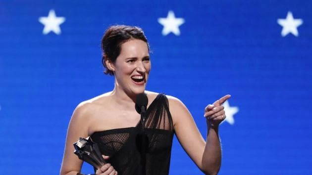 Phoebe Waller-Bridge accepts the Best Actress in a Comedy Series award for Fleabag during the 25th Critics Choice Awards.(REUTERS)