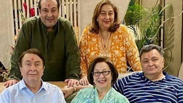 Ritu Nanda with her brothers Randhir, Rishi and Rajeev and sister Rima Kapoor.