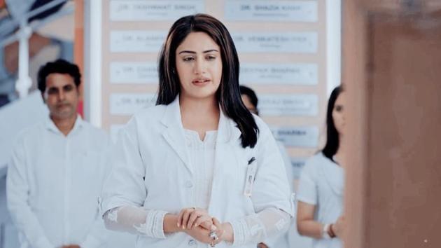 Surbhi Chandna plays the lead in Sanjivani.