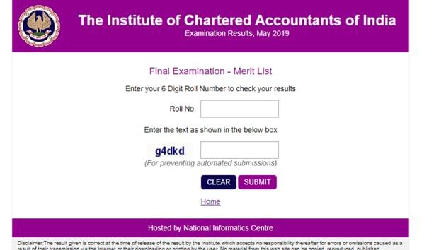 ICAI CA Final Result(ICAI)