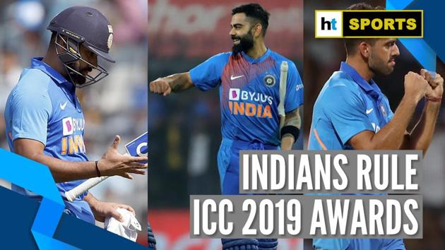Indian opener Rohit Sharma was named as '2019 ODI Cricketer of the Year'. Rohit Sharma scored a record five Centuries in World Cup 2019. Rohit is the 3rd Indian after Dhoni and Kohli to get this title. ICC took to Twitter to make the announcement. India's Deepak Chahar was awarded 'T20I Performance of the Year'. ICC's '2019 Spirit of Cricket' award went to Virat Kohli. Kohli was awarded for stopping fans from booing Steve Smith at the Oval. Kohli was also named the captain of ICC ODI and Test teams of the year.