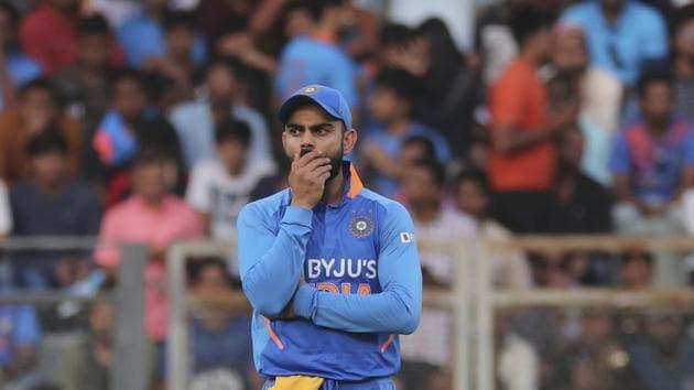 India's captain Virat Kohli gestures during the first one-day international cricket match between India and Australia in Mumbai, India, Tuesday, Jan. 14, 2020. (AP Photo/Rafiq Maqbool)(AP)