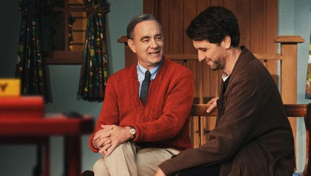 A Beautiful Day in the Neighbourhood movie review: Tom Hanks and Matthew Rhys in a still from Marielle Heller's incredibly earnest new film.