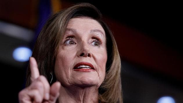 US Speaker of the House Nancy Pelosi speaks ahead of a House vote on a War Powers Resolution amid the stalemate surrounding the impeachment of US President Donald Trump.(Reuters file photo)