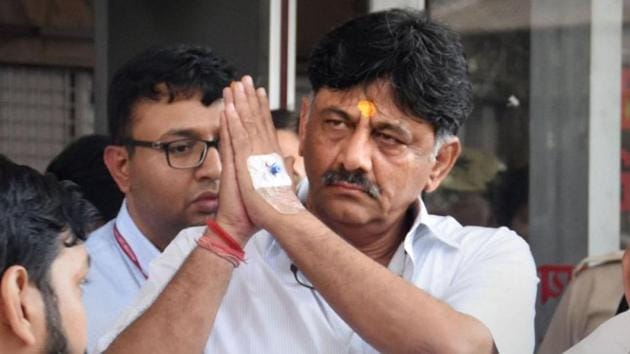Congress leader DK Shivakumar is seen as somebody who will be able to help the Congress party raise resources as well as lead the state unit.(PTI PHOTO.)