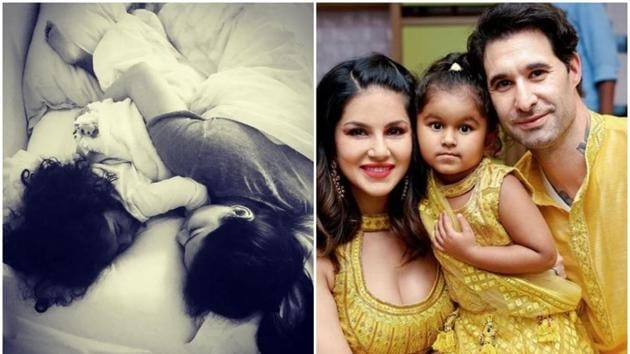 Sunny Leone with daughter Nisha.(Instagram)