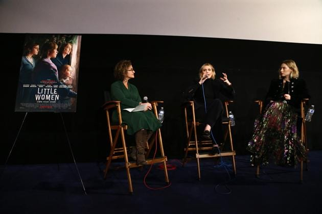 Alex Cohen, Greta Gerwig and Saoirse Ronan attend the American Cinematheque Screening Q&A of Columbia Pictures'(Getty Images)
