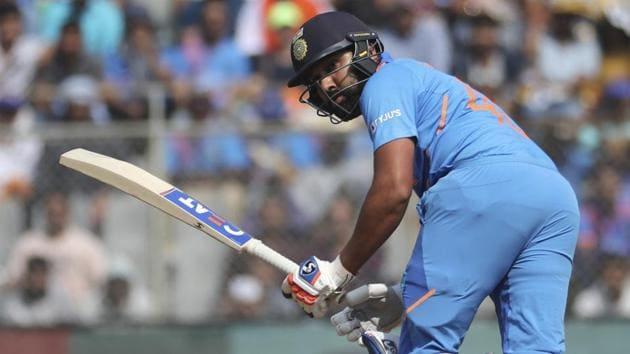 India's Rohit Sharma bats during an ODI against Australia.(AP)