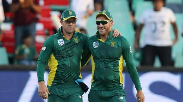 File image of AB de Villiers and Faf du Plessis.(Getty Images)