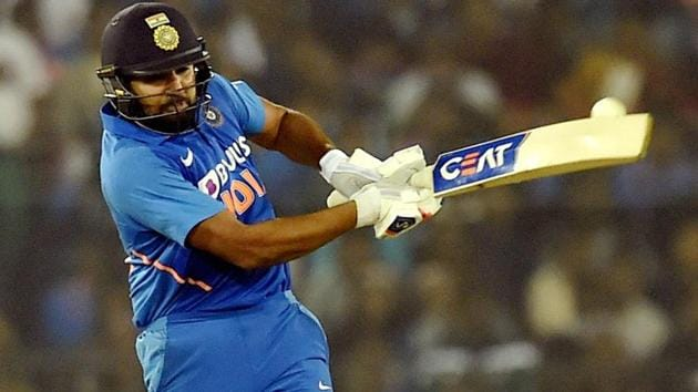 Rohit Sharma in action during the second ODI between India and Australia.(PTI)