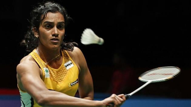PV Sindhu hits a return shot against Taiwan's Tai Tzu Ying.(AP)