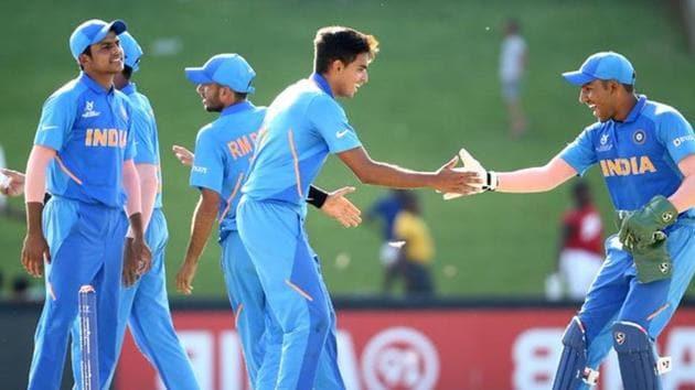 India defeated Sri Lanka in their U-19 World Cup encounter.(Twitter)