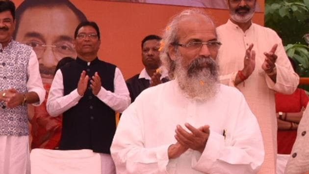 """Pratap Chandra Sarangi on Saturday said the Citizenship Amendment Act (CAA) was a way to """"atone for the sin of Partition"""" committed by the Congress(HT Photo)"""