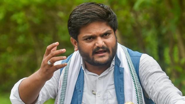 Congress leader Hardik Patel was arrested on Saturday night from Viramgam taluka in Gujarat's Ahmedabad district(PTI)