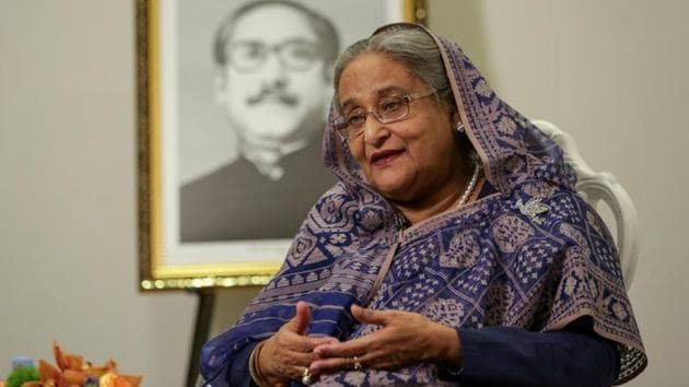 Bangladesh PM Sheikh Hasina also said there has been no recorded reverse migration from India(REUTERS FILE)