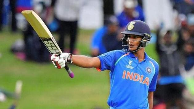 Manjot Kalra during the 2018 ICC Under-19 Cricket World Cup final.(PTI)