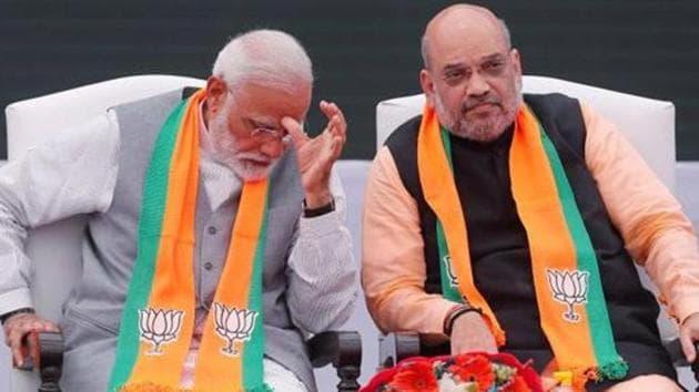 PM Narendra Modi with Union Home Minister Amit Shah(Reuters file photo)