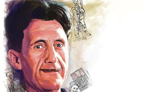 George Orwell became a democratic socialist and developed a strong dislike for totalitarian political systems such as Soviet communist regime.(ILLUSTRATION: Rushikesh Tulshiram Gophane)