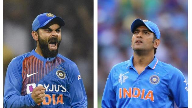 Virat Kohli (L), MS Dhoni (R)(HT Collage)