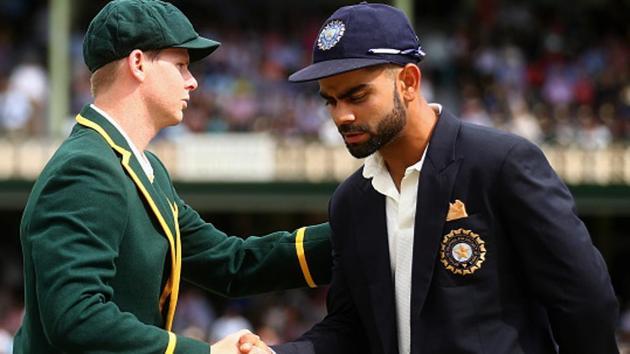 A file photo of Steve Smith (L) and Virat Kohli.(Cricket Australia via Getty Images)