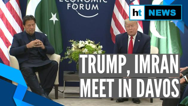 """US President Donald Trump met Prime Minister of Pakistan Imran Khan in Davos. The meet took place on sidelines of World Economic Forum. Donald Trump called Imran Khan 'a very good friend'. Before the meet, Trump said that the two would talk about J&K. Trump said, """"We've never been closer with Pak than we are right now."""""""