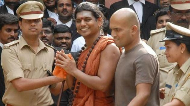 Nithyananda was earlier declared wanted by the Gujarat Police for kidnapping and confining children to make them collect donations from followers to run his ashram
