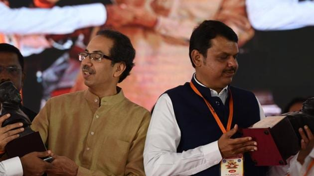 Uddhav Thackeray-led Shiv Sena formed the government in Maharashtra after the assembly polls in November 2019 after talks on power-sharing with the BJP failed.(HT File)