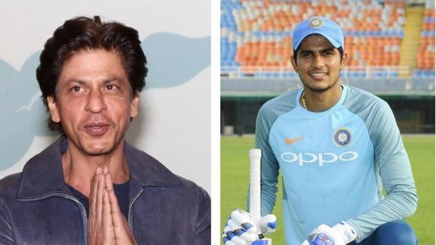 Shah Rukh Khan (L), Shubman Gill (R)(HT Collage)