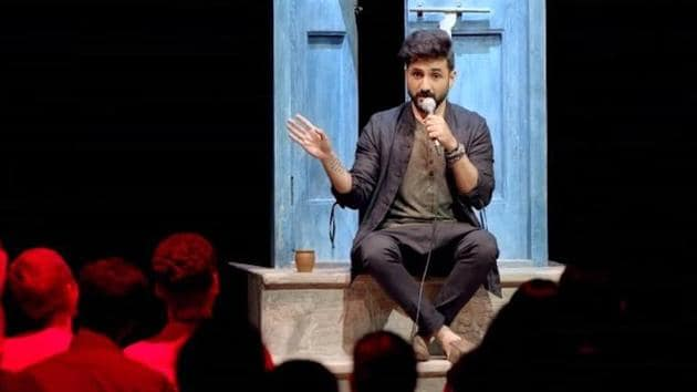 Comedian Vir Das in a screengrab from the trailer of his latest standup special, For India.