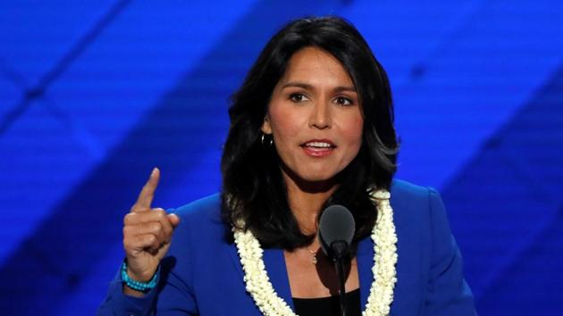 Gabbard resigned as a vice chair of the Democratic National Committee in 2016 after accusing the party leadership of favouring Clinton.(Reuters File Photo)