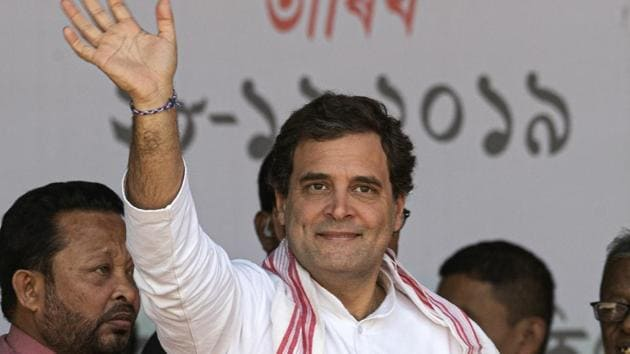 During his yatra, Rahul Gandhi will also raise the issues confronting farmers, tribals, rural workers, small and medium traders, industrialists and professionals.(AP File Photo)
