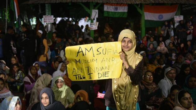 Muslim women are proudly saying that we are Indians and we are Muslims(Samir Jana / Hindustan Times)