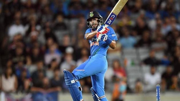 Shreyas Iyer scored 58 off 29 balls in 1st T20I against New Zealand.(Getty Images)