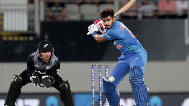 Shreyas Iyer scored a half century.(Twitter/ICC)