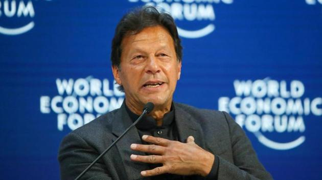 Pakistan's Prime Minister Imran Khan speaks during a session at the 50th World Economic Forum (WEF) in Davos, Switzerland.(Reuters image)