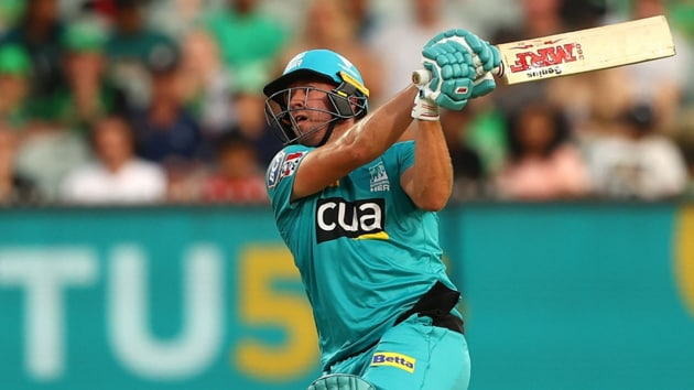 Ab de Villiers during his innings against Melbourne Stars.(Twitter)