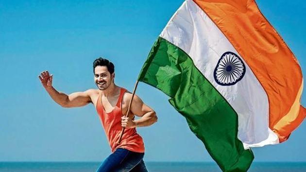 Varun Dhawan said that everyone must be very proud of being an Indian.(Aalok Soni/Hindustan Times)