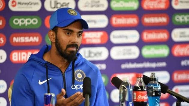 KL Rahul attending a press conference(Twitter)