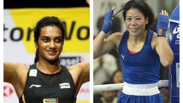 PV Sindhu (L) and Mary Kom (R).(Reuters/HT Photo)