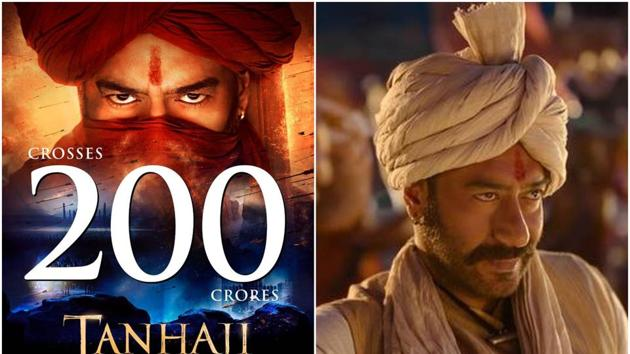 Tanhaji: The Unsung Warrior has become the first film of 2020 to cross the Rs 200-crore mark.
