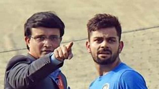 File image of Sourav Ganguly and Virat Kohli (R).(PTI)
