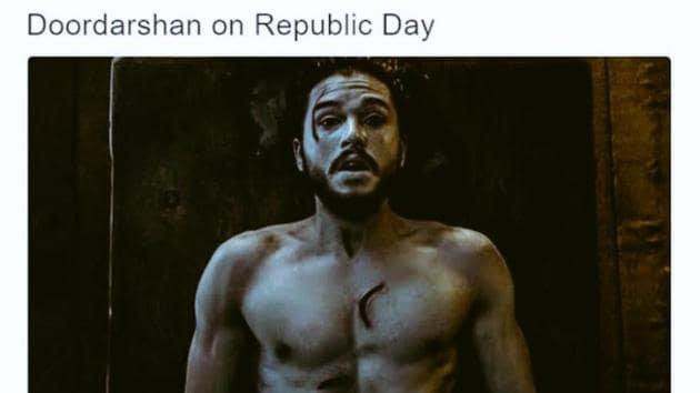 Republic Day 2020: People are tweeting about Doordarshan.(Twitter/@TheIndolentLad)