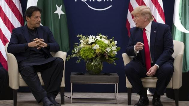 President Donald Trump meets with Pakistani Prime Minister Imran Khan at the World Economic Forum in Davos, Switzerland.(AP)