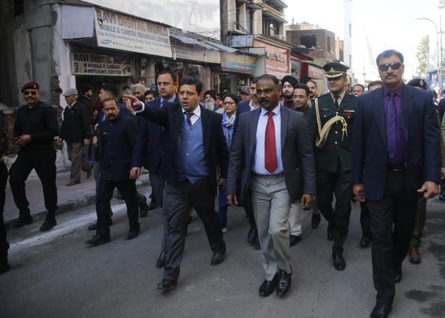 Jammu & Kashmir Lt. Governor GC Murmu during his visit in Jammu on January 17, 2020. He said Jammu and Kashmir was now at the doorstep of a brighter future.(Nitin Kanotra/HT Photo)
